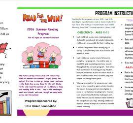 Summer Reading Program 2016 Huron Final