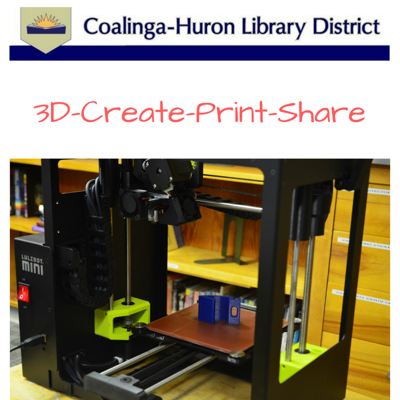 3D Printing is available at the Coalinga-Huron Library District!!!